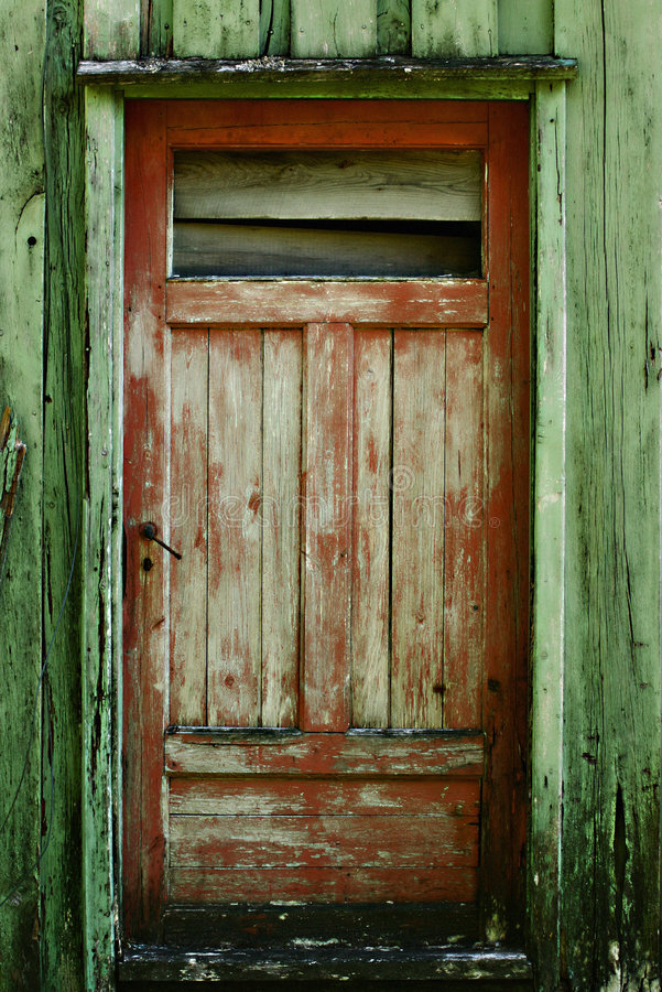 Rote Tür lizenzfreies stockfoto