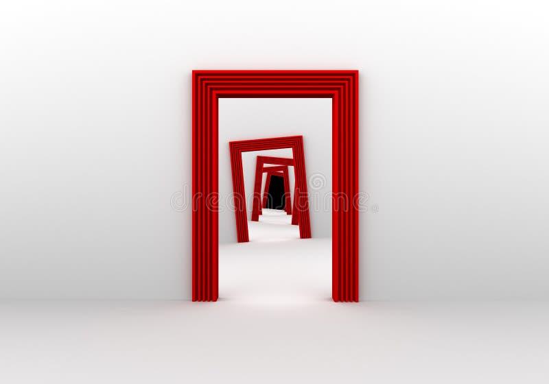 Rote Türen lizenzfreie abbildung
