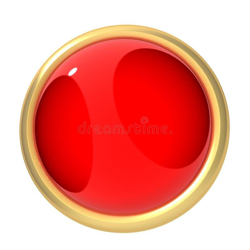 Rote Taste vektor abbildung