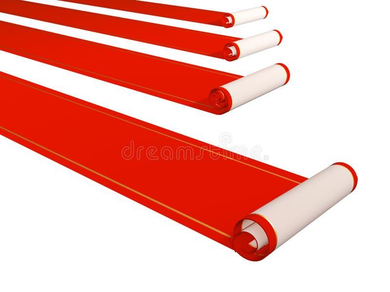 Rote Teppiche stock abbildung