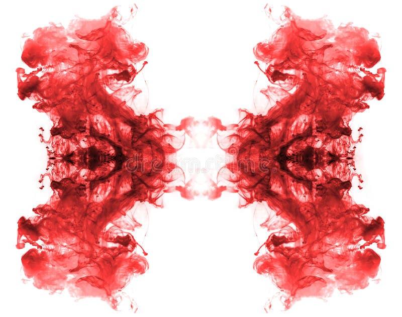 Rote Tintenmuster. lizenzfreies stockfoto