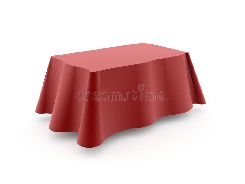 Rote Tischdecke lizenzfreie abbildung