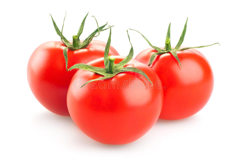 Rote Tomate auf weißem Hintergrund lizenzfreies stockfoto