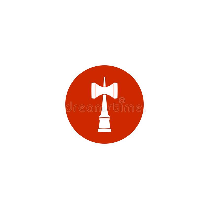 Rote traditionelle Spielzeugikone Kendama Japan vektor abbildung