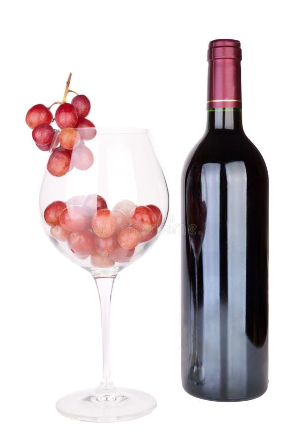 Rote Traube und Wein stockfoto