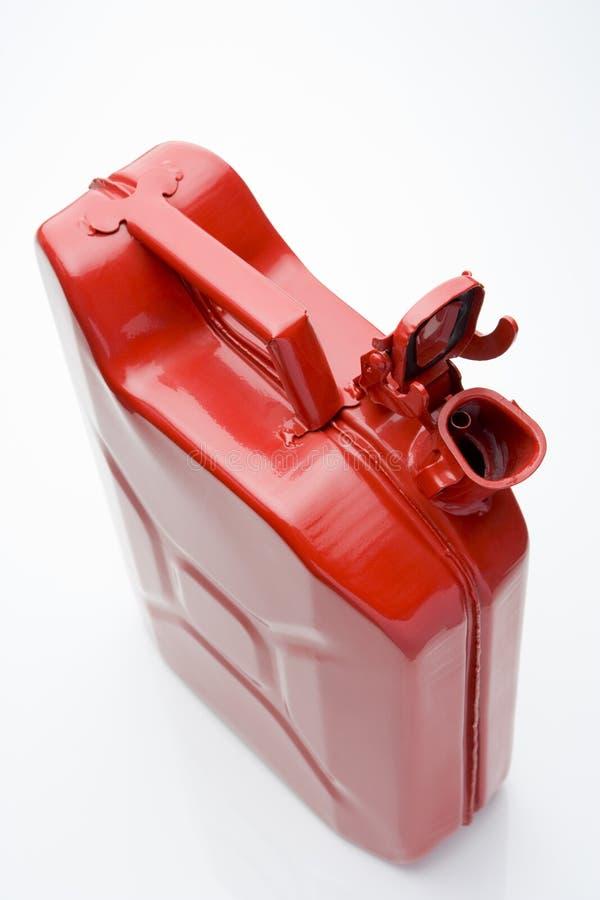 Rote Treibstoff-Dose lizenzfreie stockbilder