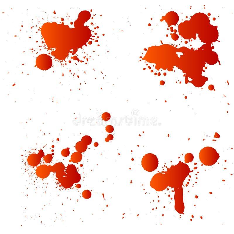Rote Tropfen stock abbildung