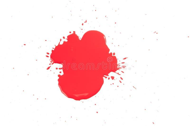 Rote Tropfen auf Weiß lizenzfreies stockfoto