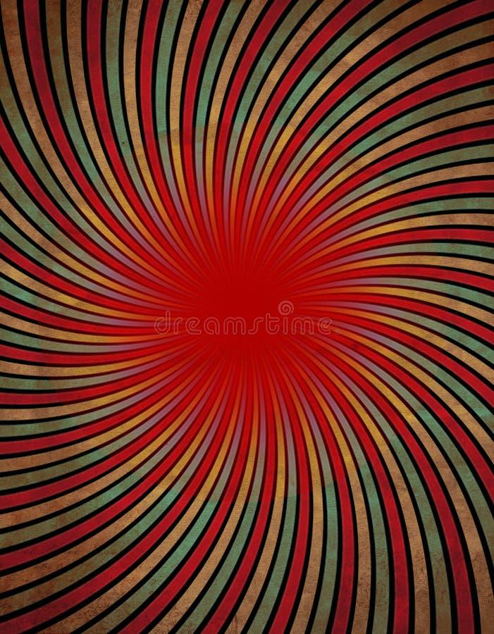 Rote Turbulenz vektor abbildung