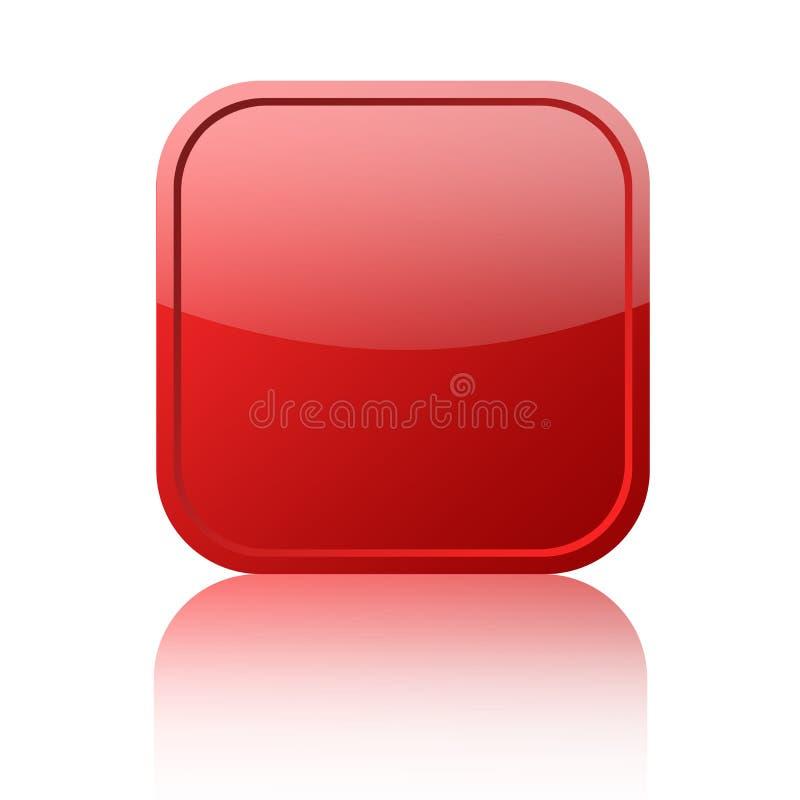 Rote unbelegte Taste lizenzfreie abbildung