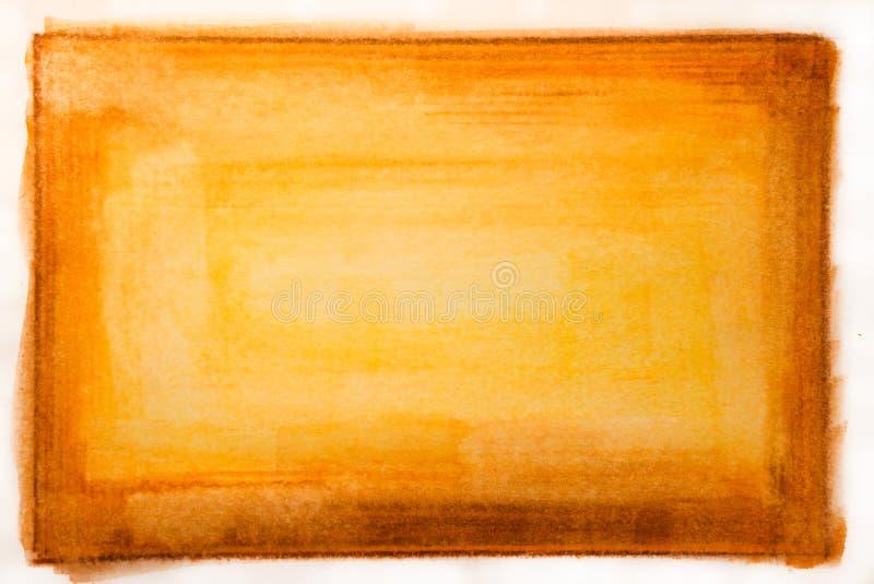Rote und gelbe Wasser-Farben-Lack-Beschaffenheit lizenzfreies stockbild