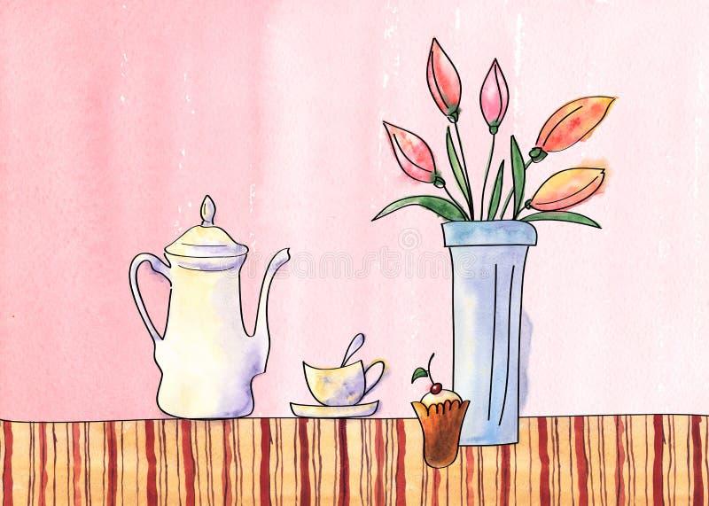 Rote und grüne Pfeffer und Olivenölglas lizenzfreies stockbild
