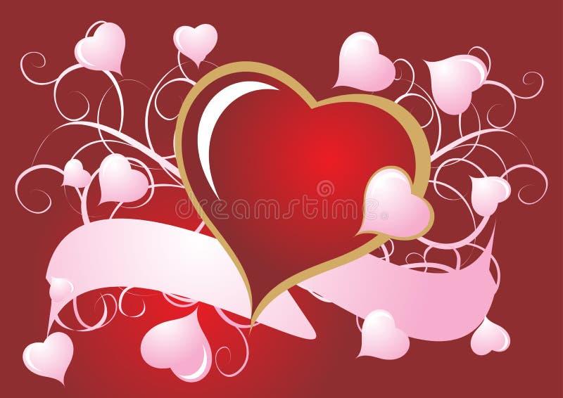 Rote und rosafarbene Innere vektor abbildung