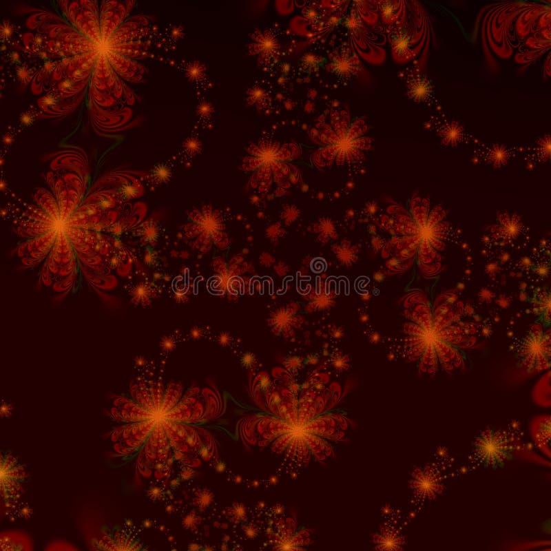 Rote und schwarze Stern-Auszugshintergrundauslegung oder -tapete stock abbildung