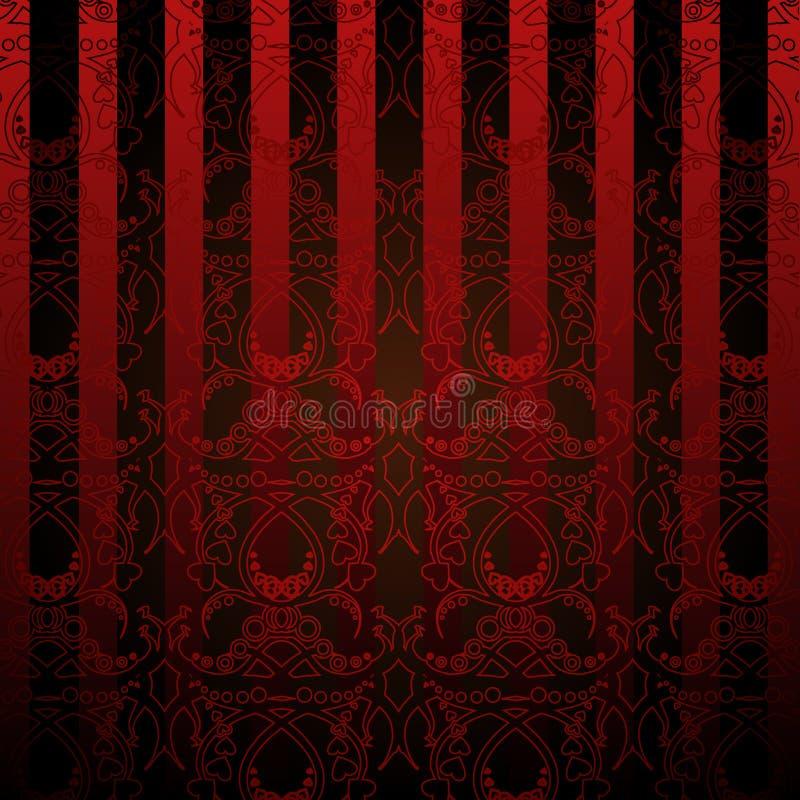 Rote und schwarze tapete stock abbildung illustration von for Schwarze tapete