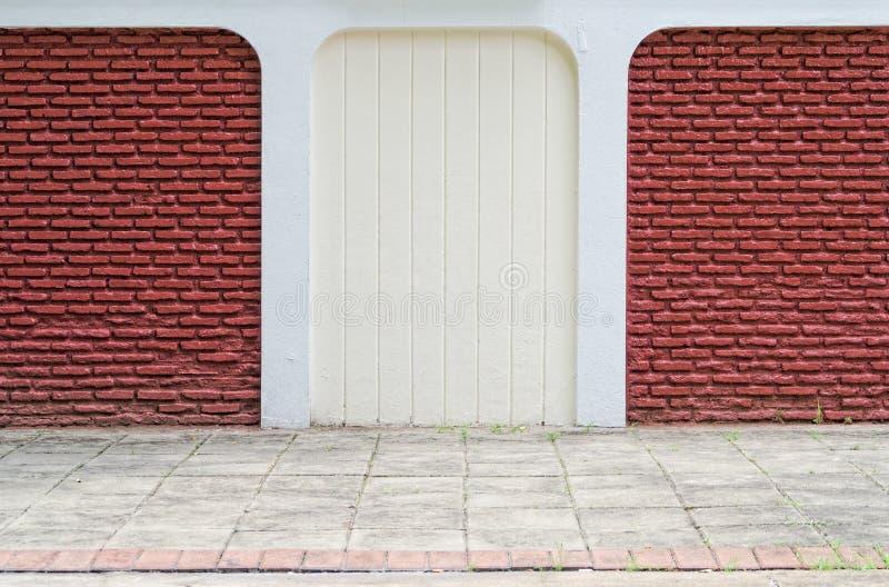 Rote und weiße Backsteinmauer lizenzfreie stockbilder