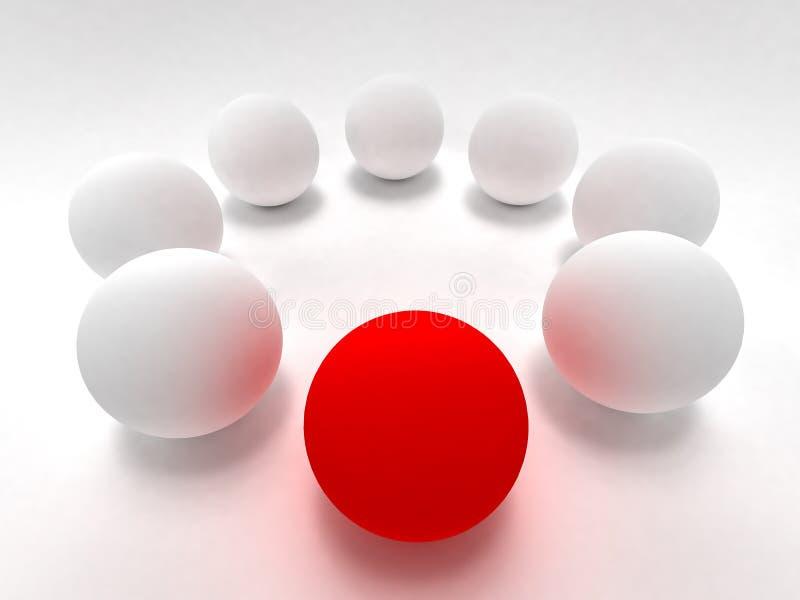 Rote und weiße Kugel stockfoto