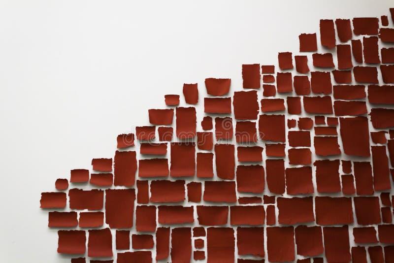 rote und weiße Kunstinstallation lizenzfreie stockbilder