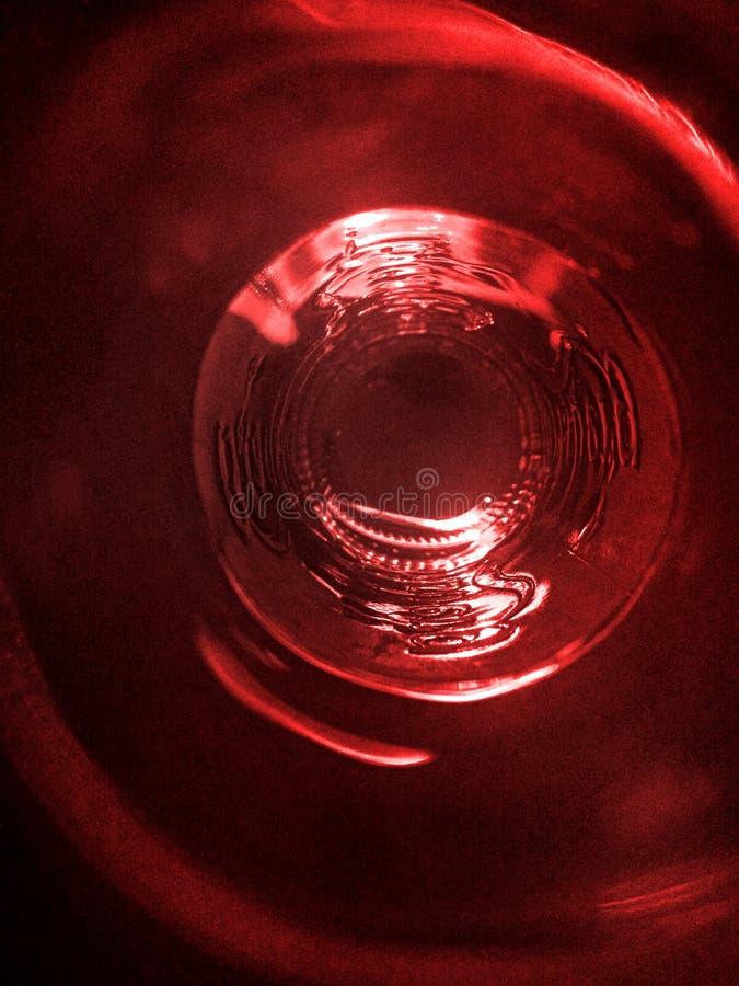 Rote untere Flasche lizenzfreie stockbilder