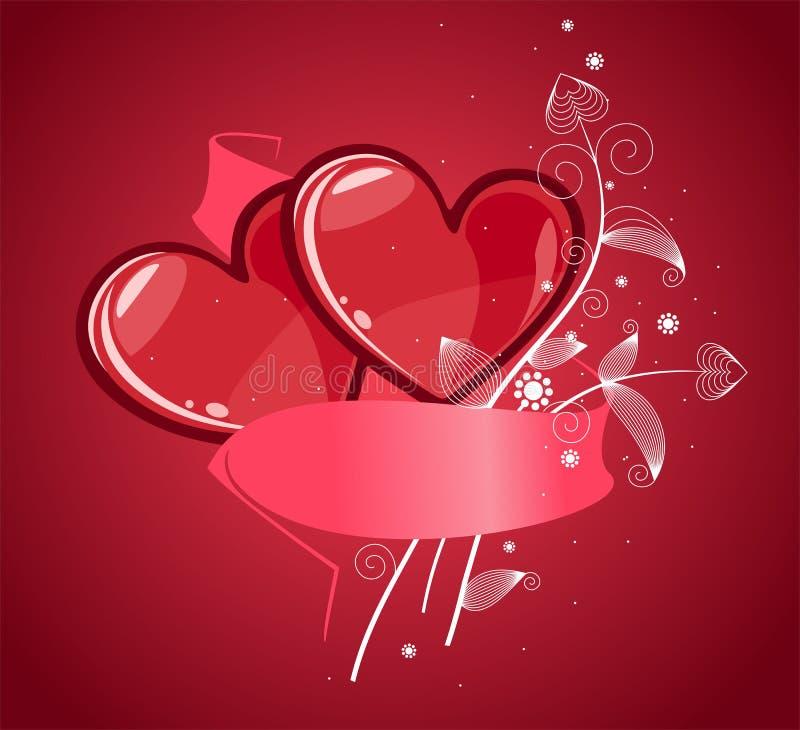 Rote Valentinsgrußherzen lizenzfreie stockbilder