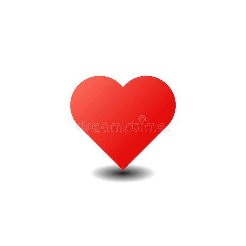 Rote Vektor-Liebes-Herz-Illustration vektor abbildung