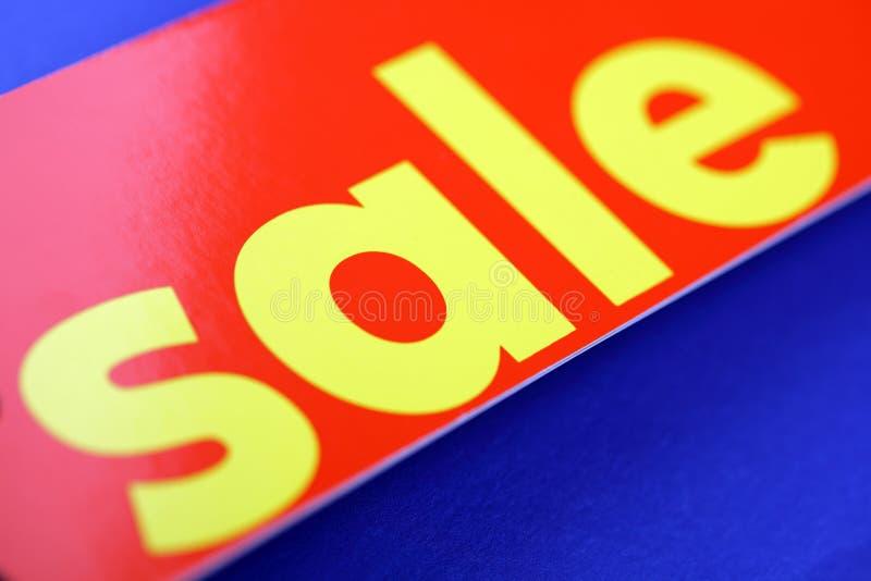 Rote Verkaufsmarke lizenzfreies stockfoto