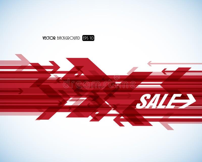 Rote Verkaufspfeile. stock abbildung