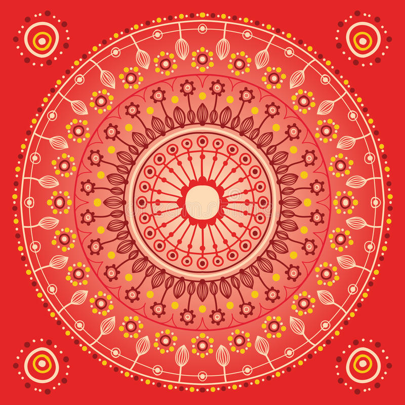 Rote Verzierung vektor abbildung