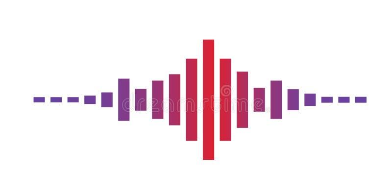 Rote violette Schallwellen vektor abbildung