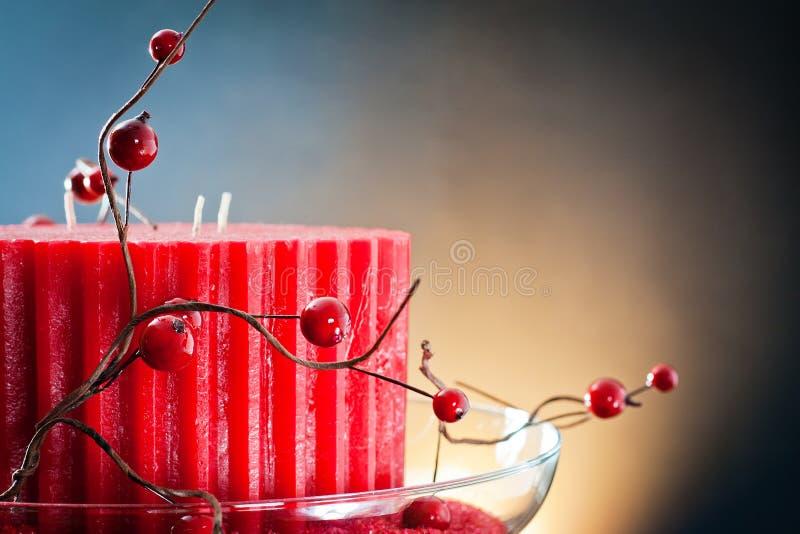 Rote Wachs Kerze und Barry stockfotografie