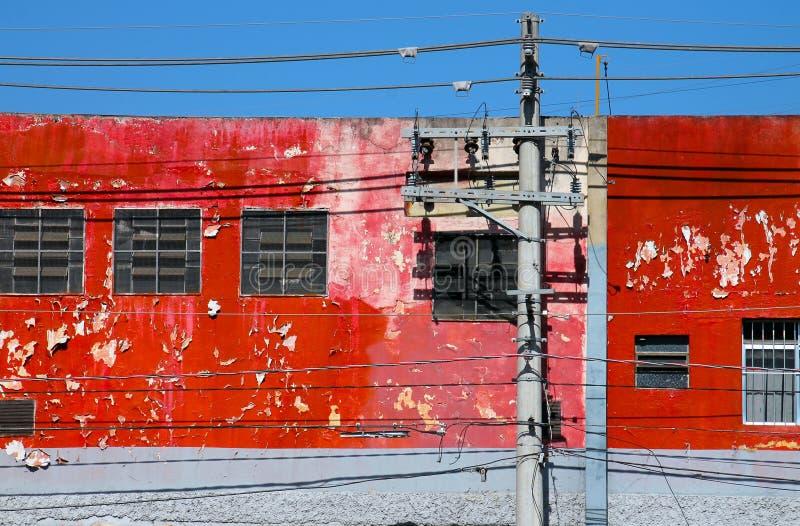 Rote Wand in São Caetano lizenzfreie stockfotos