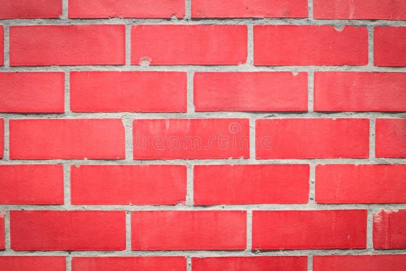 Rote Wand von roten Blöcken stockfotos