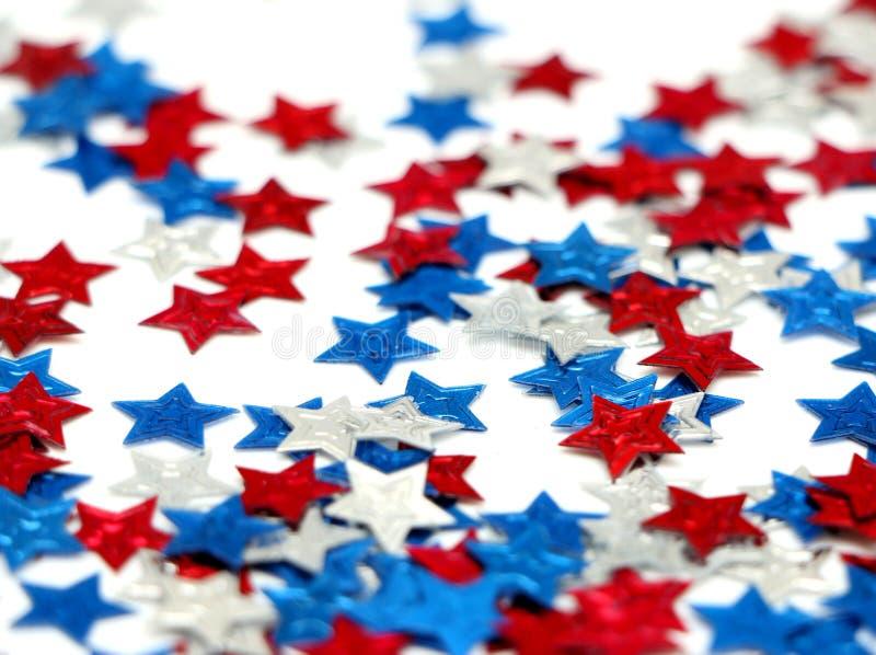 Rote, weiße und blaue Sterne stockfoto