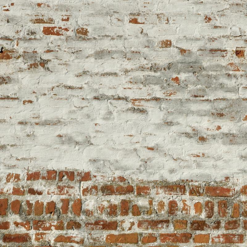 Rote weiße Weinlese-Backsteinmauer-Tünche-Rahmen-Hintergrund-Beschaffenheit stockfotos
