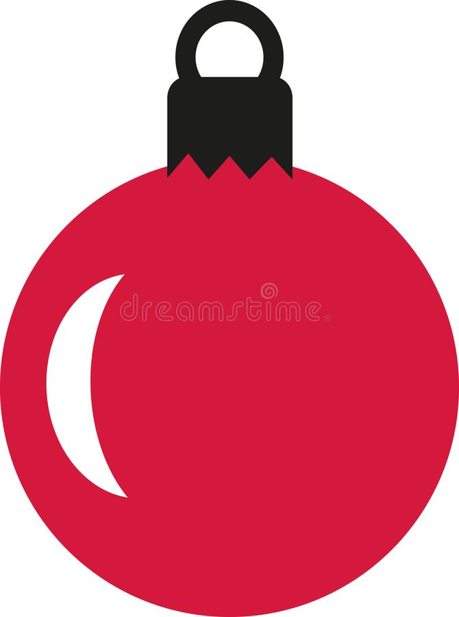 Rote Weihnachtsbaum-Kugel stock abbildung