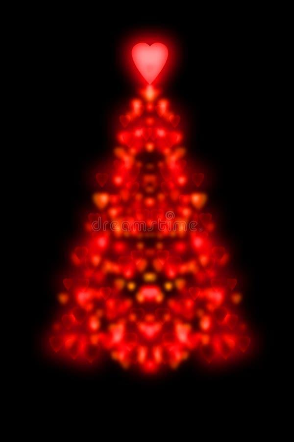 Rote Weihnachtsbauminnere lizenzfreie abbildung