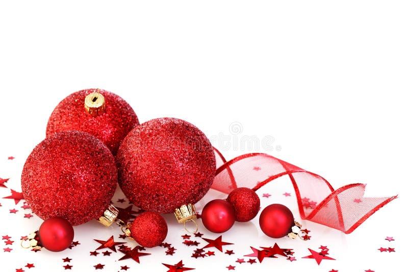 Rote Weihnachtsdekoration stockbild