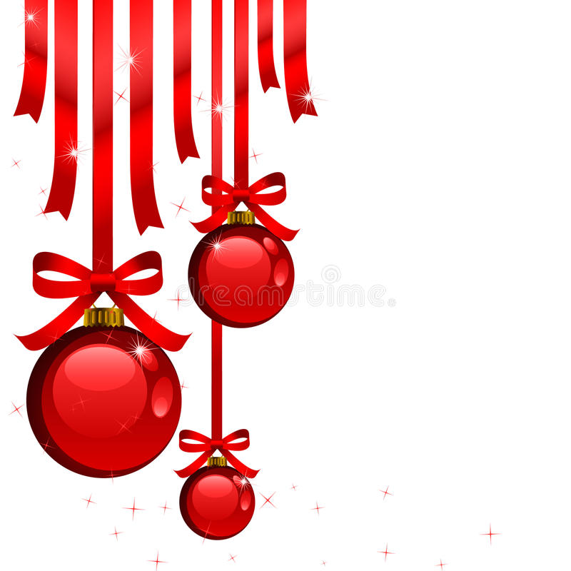 Rote Weihnachtsdekorationen lizenzfreie abbildung