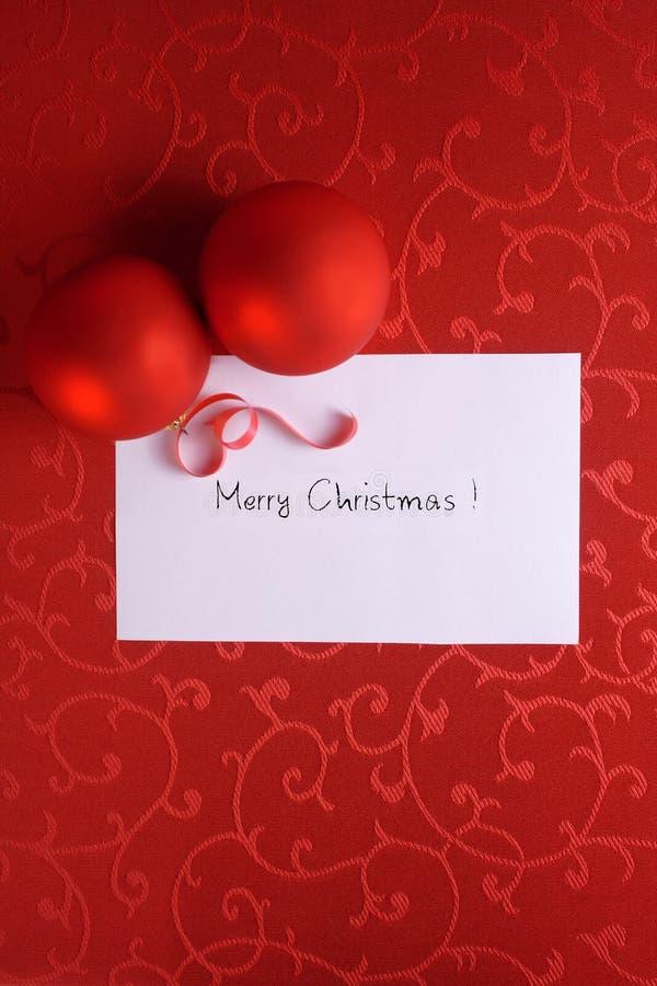 Rote Weihnachtskarte lizenzfreies stockbild