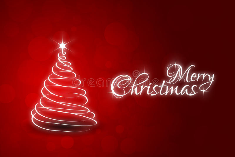 Rote Weihnachtskarte lizenzfreie abbildung