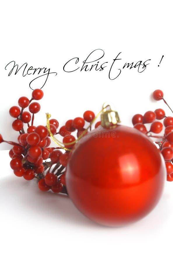 Rote Weihnachtskarte stockfoto