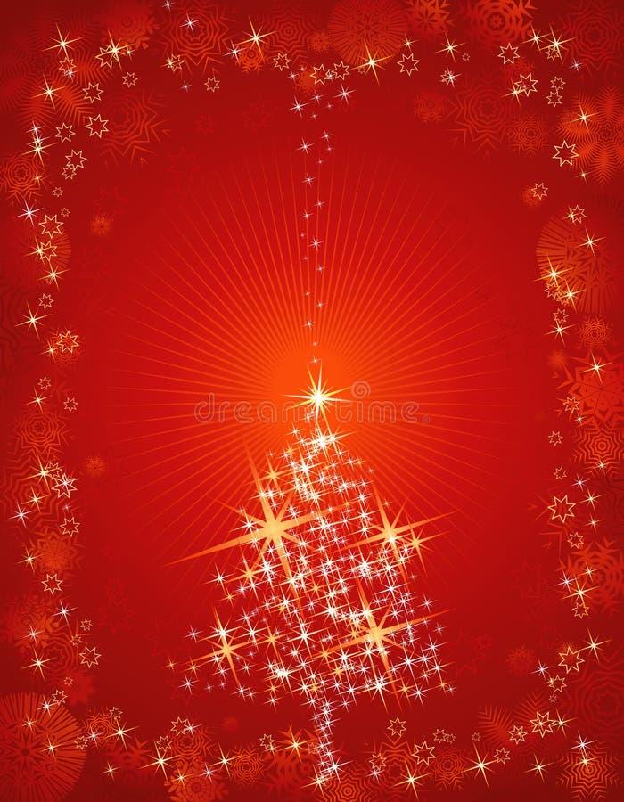 Rote Weihnachtskarte, Vektor lizenzfreie abbildung