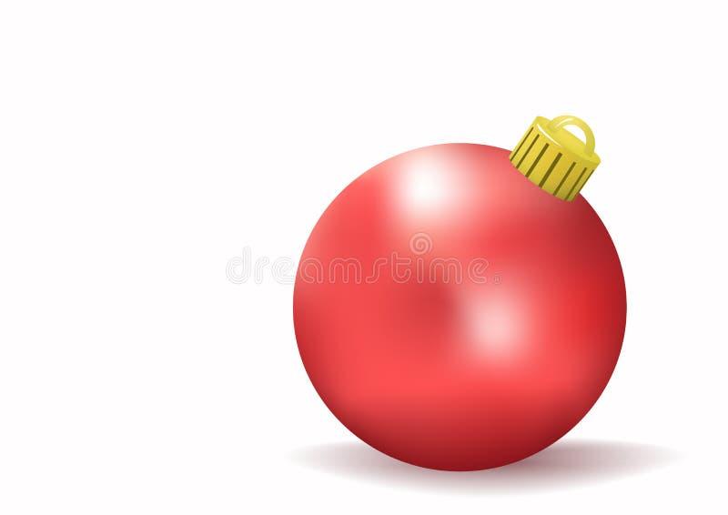 Rote Weihnachtskugel vektor abbildung