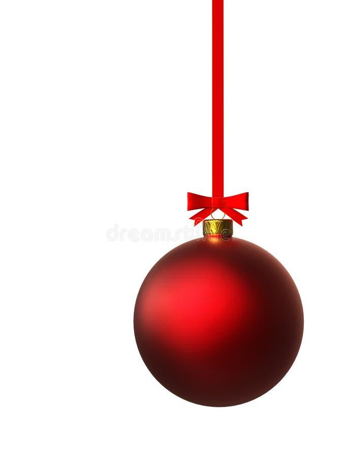Rote Weihnachtskugel stock abbildung