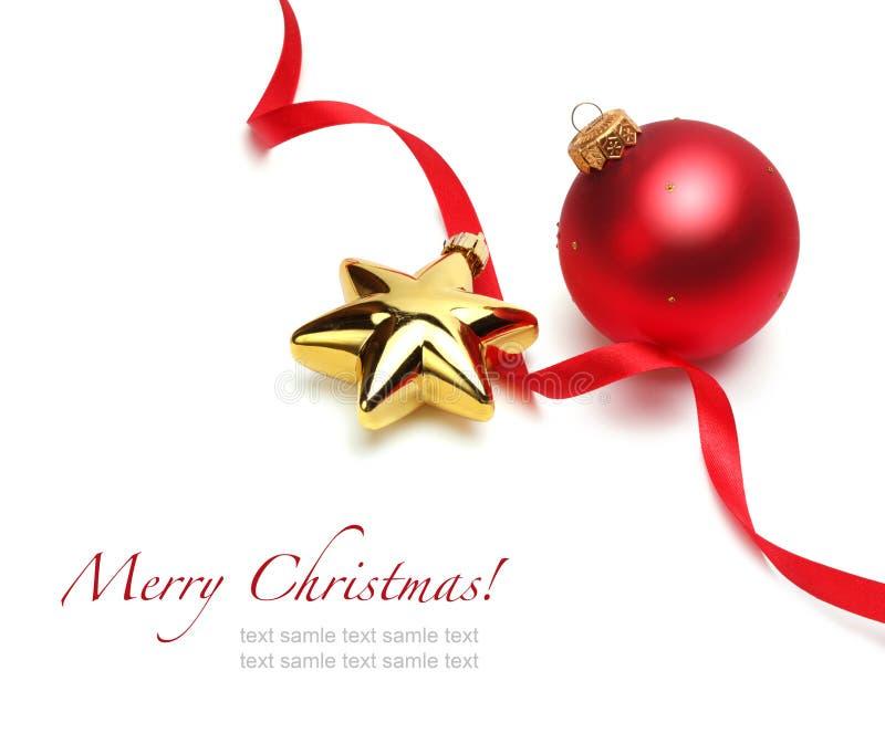 Rote weihnachtskugel stockfoto bild von dekoration for Rote dekoration