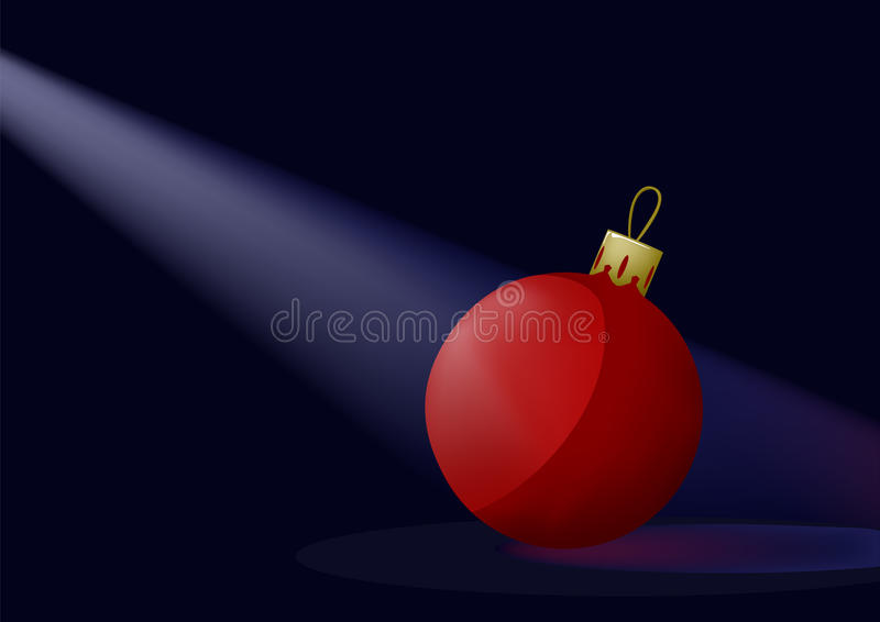 Rote Weihnachtskugel lizenzfreie abbildung
