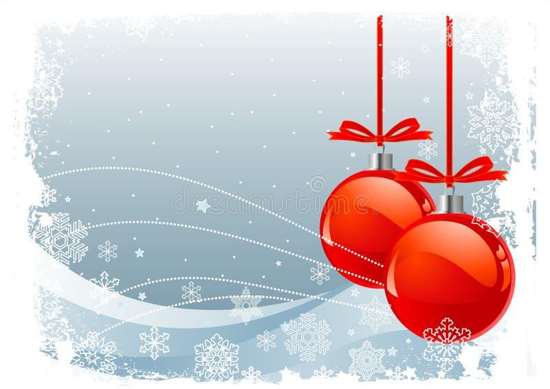 Rote Weihnachtskugeln lizenzfreie abbildung