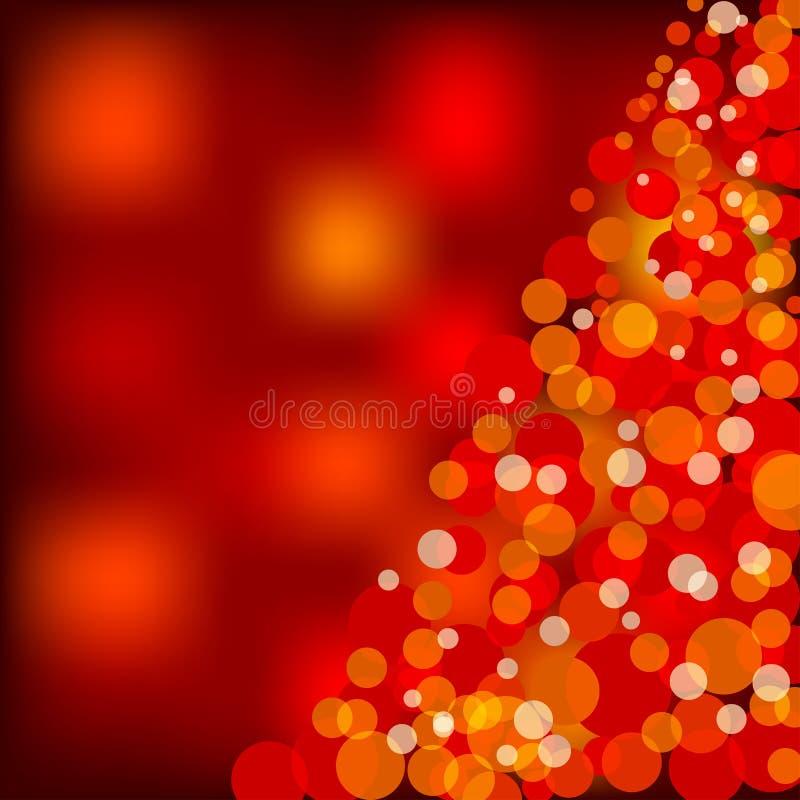 Rote Weihnachtsleuchten lizenzfreie abbildung