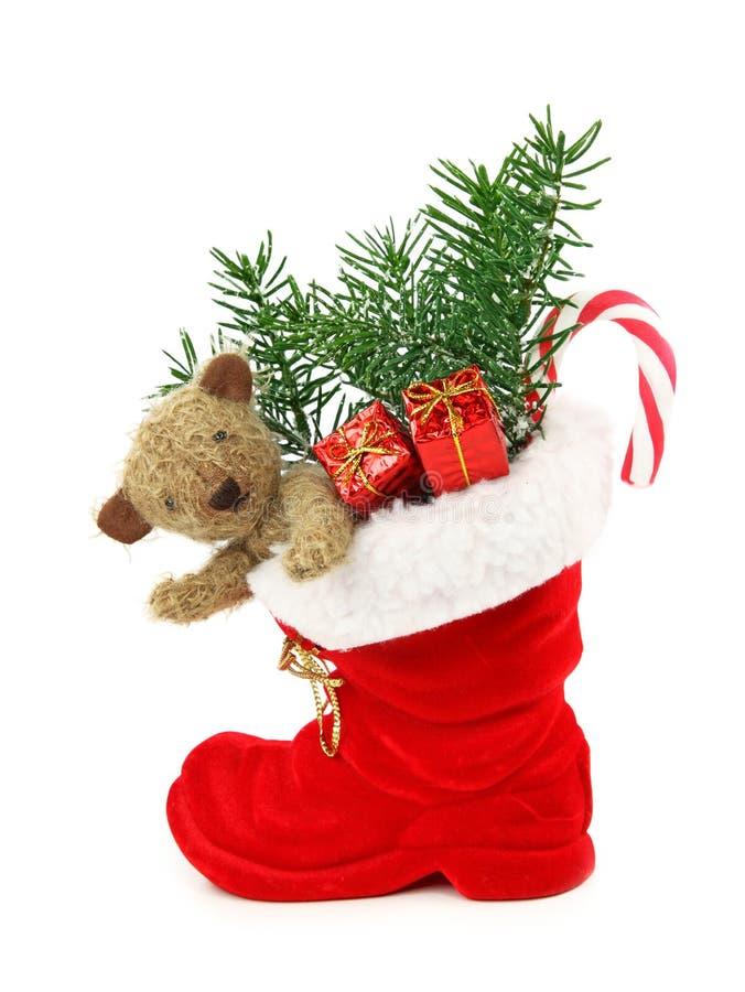 Rote Weihnachtsmatte lizenzfreie stockbilder