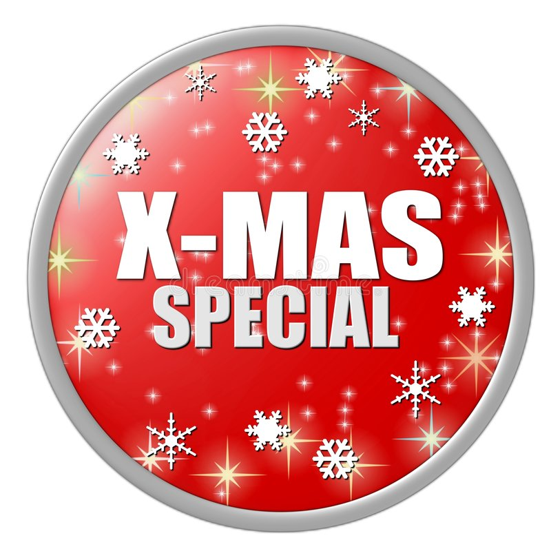 Rote Weihnachtsspecialtaste stock abbildung